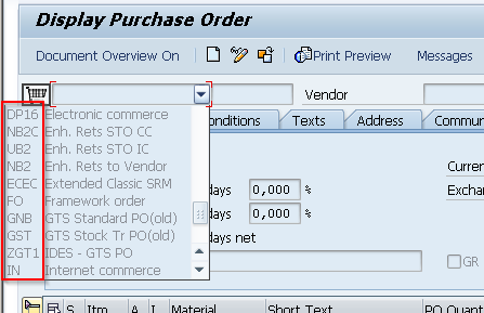 Show SAP Technical keys
