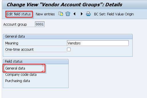 Define Account Groups with Screen Layout (Vendors) | OBD3