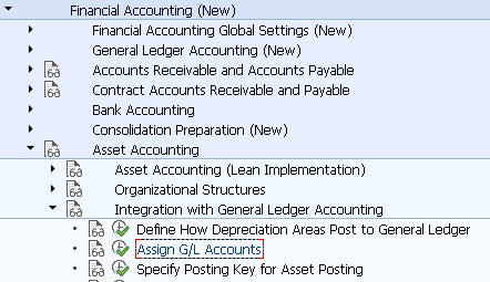 assign g l accounts ao90