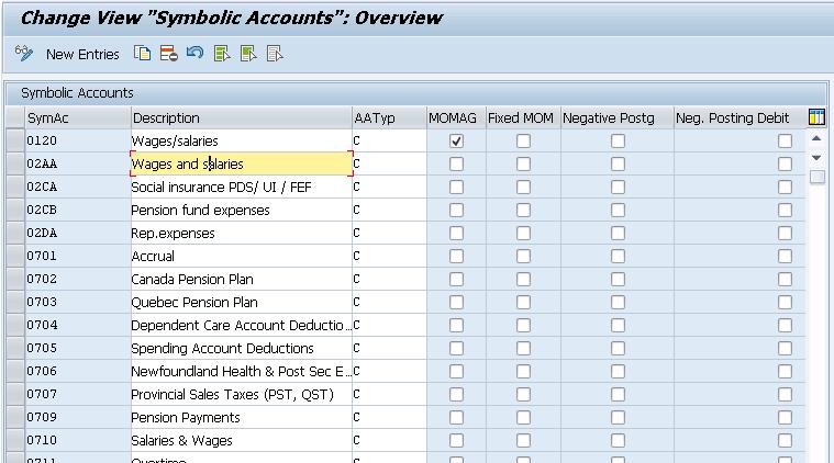 Define Symbolic Accounts