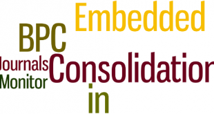 Consolidation, Journals and Others