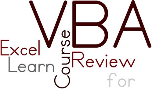 Learn VBA for Excel