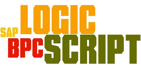 SAP BPC Logic Script Course