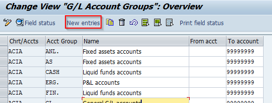 Define Account Group | SAP Transaction Code OBD4