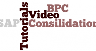 SAP BPC Consolidation Training Videos
