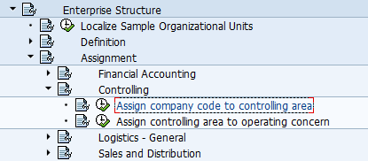 Assign company code to controlling area | Transaction OX19